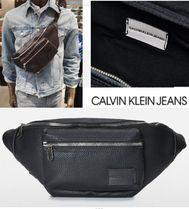 Calvin Klein Unisex Faux Fur Street Style Plain Hip Packs