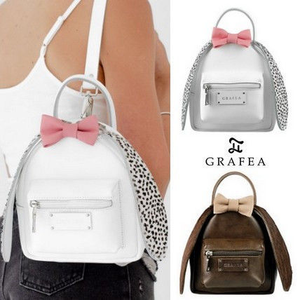 Casual Style 2WAY Plain Leather Backpacks