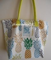 Tropical Patterns Casual Style Cambus A4 Oversized Totes