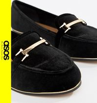 ASOS Casual Style Velvet Loafer Pumps & Mules