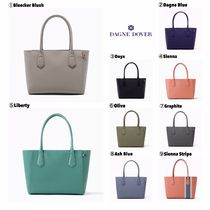 DAGNE DOVER Casual Style Canvas A4 Plain Leather Totes