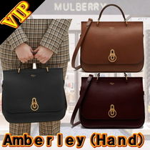 Mulberry 2WAY Plain Leather Office Style Handbags