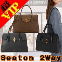 Mulberry Unisex A4 2WAY Plain Leather Office Style Handbags