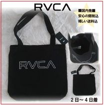 RVCA Unisex Canvas A4 Plain Totes
