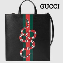 GUCCI 2WAY Other Animal Patterns Leather Totes
