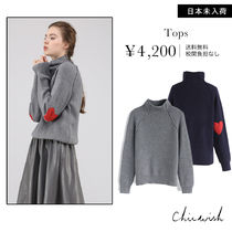 Chicwish Heart Long Sleeves Sweaters