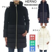 HERNO Wool Blended Fabrics Long Elegant Style Down Jackets