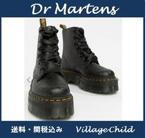 Dr Martens Round Toe Lace-up Casual Style Plain Lace-up Boots