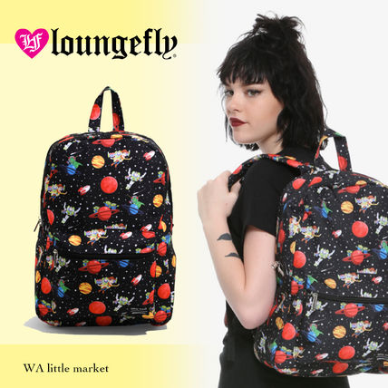 Casual Style Unisex Collaboration A4 Backpacks