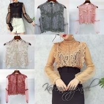 Short Long Sleeves Plain Home Party Ideas Lace Office Style