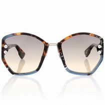 Christian Dior Studded Square Oversized Sunglasses