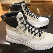 Louis Vuitton Monogram Blended Fabrics Street Style Leather Sneakers