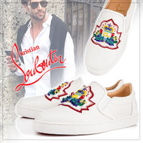 Christian Louboutin Unisex Plain Leather Loafers & Slip-ons