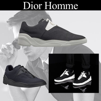 ... DIOR HOMME Sneakers Street Style Plain Leather Sneakers ... 4612be6a4df