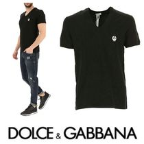 Dolce & Gabbana V-Neck Short Sleeves V-Neck T-Shirts