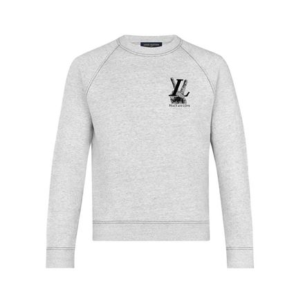Louis Vuitton Sweatshirts Crew Neck Pullovers Street Style Long Sleeves Plain Cotton 2