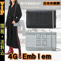 GIVENCHY Lambskin 2WAY Chain Plain Elegant Style Shoulder Bags