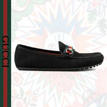 GUCCI Driving Shoes Suede Loafers & Slip-ons