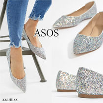 ASOS Casual Style Street Style Block Heels Ballet Shoes