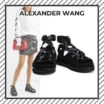 Alexander Wang Open Toe Platform Lace-up Casual Style Street Style Plain
