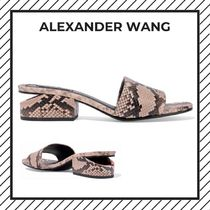 Alexander Wang Open Toe Street Style Leather Python Elegant Style