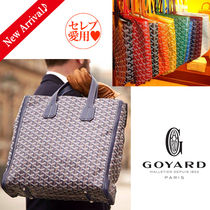 GOYARD Monogram Unisex Canvas Blended Fabrics A4 2WAY Bold Totes