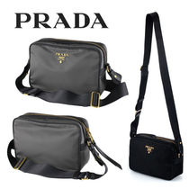 PRADA Casual Style Nylon Blended Fabrics Plain Shoulder Bags