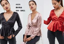 ASOS Casual Style Peplum Long Sleeves Plain Shirts & Blouses