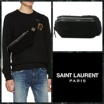 Saint Laurent Unisex Lambskin Street Style Messenger & Shoulder Bags