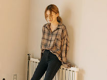 Other Check Patterns Casual Style Long Sleeves