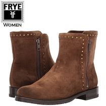 FRYE Casual Style Suede Studded Plain Ankle & Booties Boots