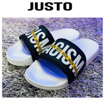 JUSTO Plain Toe Studded Street Style Loafers & Slip-ons