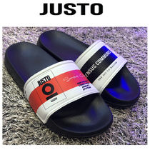 JUSTO Square Toe Rubber Sole Casual Style Studded Street Style