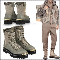 Louis Vuitton Monogram Plain Toe Mountain Boots Blended Fabrics