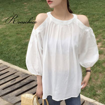 Casual Style Plain Medium Bandeau & Off the Shoulder