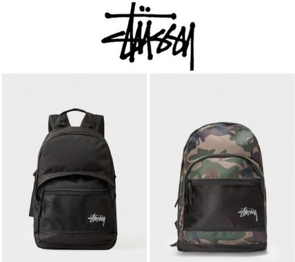 Camouflage Unisex Nylon Street Style Plain Backpacks