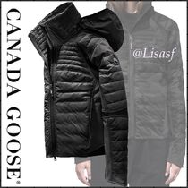 CANADA GOOSE Short Blended Fabrics Plain Down Jackets