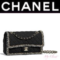 CHANEL ICON Other Check Patterns Blended Fabrics Street Style 2WAY Chain