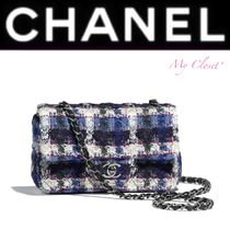 CHANEL ICON Tartan Other Check Patterns Blended Fabrics Street Style