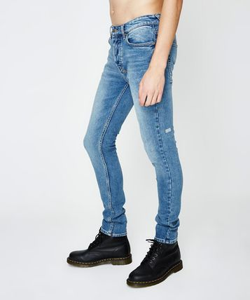 Plain Cotton Jeans & Denim