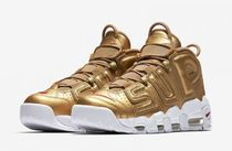 Nike AIR MORE UPTEMPO Street Style Collaboration Leather Sneakers