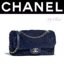 CHANEL ICON Fur Blended Fabrics Street Style 2WAY Chain Plain