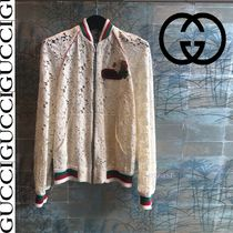 GUCCI Short Casual Style Unisex Bomber Jackets