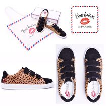 Bons baisers de Paname Leopard Patterns Leather Low-Top Sneakers