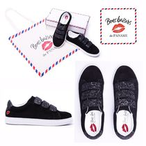 Bons baisers de Paname Plain Leather Low-Top Sneakers