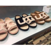 UGG Australia UGG SLIDE Casual Style Sheepskin Plain Slippers Shoes