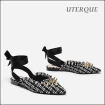 Uterque Other Check Patterns Studded Sandals