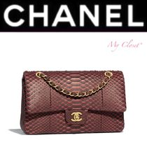 CHANEL ICON Crocodile Blended Fabrics Street Style 2WAY Chain Plain