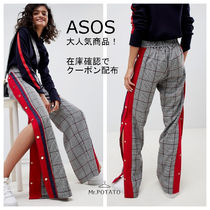 ASOS Other Check Patterns Long Wide & Flared Jeans