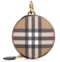 Burberry Other Check Patterns Unisex Leather Coin Purses